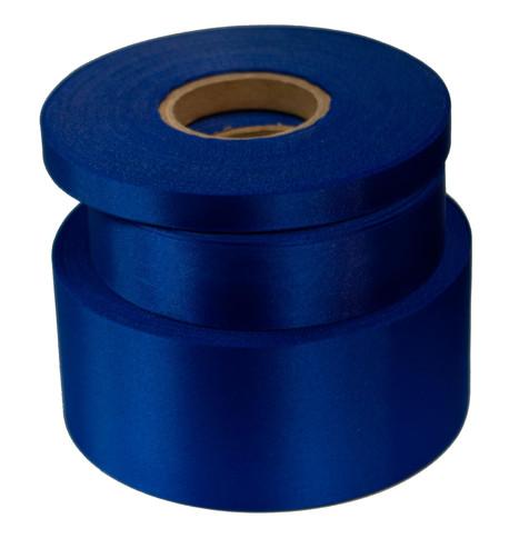 Deep Royal Satin Acetate Ribbon Deep Royal Blue