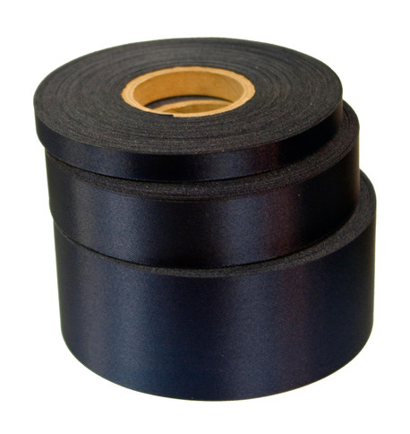Navy Satin Acetate Ribbon Navy