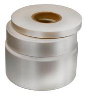 White Satin Acetate Ribbon - White