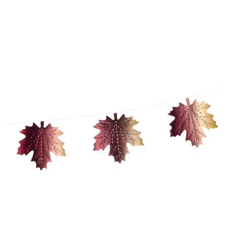 MAPLE LEAF TONAL FOIL BUNTING Multi