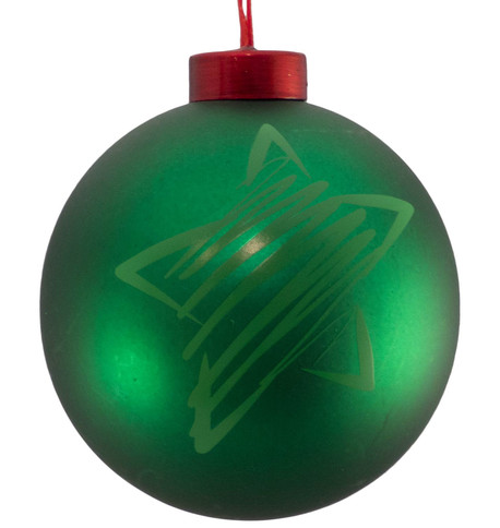 CONTEMPORARY ICON BAUBLES - GREEN STAR Green