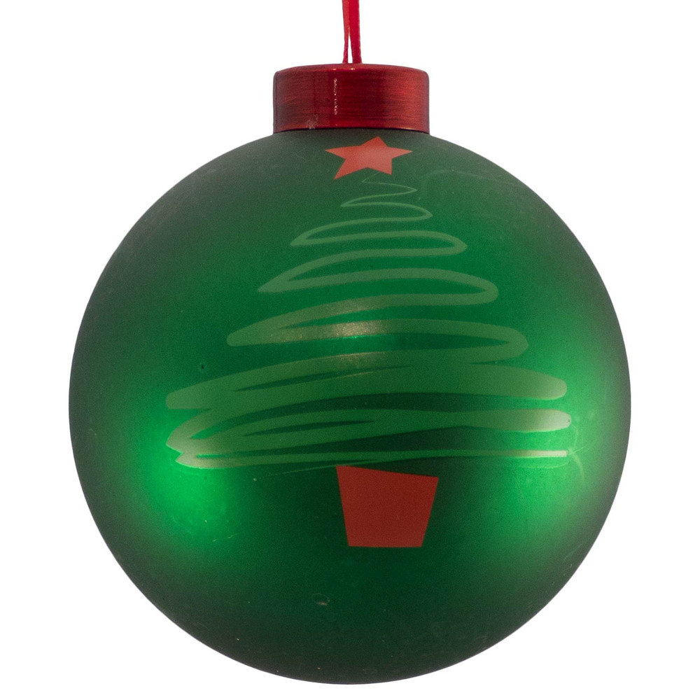Christmas Tree With Baubles: CONTEMPORARY ICON BAUBLES - Green CHRISTMAS TREE