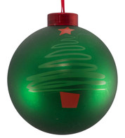 CONTEMPORARY ICON BAUBLES - green CHRISTMAS TREE - Green