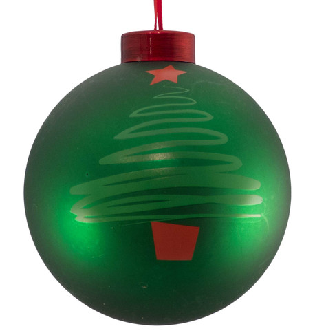 CONTEMPORARY ICON BAUBLES - green CHRISTMAS TREE Green