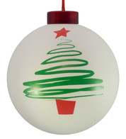 CONTEMPORARY ICON baubles - white CHRISTMAS TREE - White