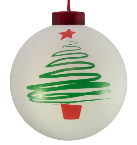 CONTEMPORARY ICON baubles - white CHRISTMAS TREE White