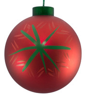 CONTEMPORARY ICON BAUBLES - RED SNOWFLAKE - Red