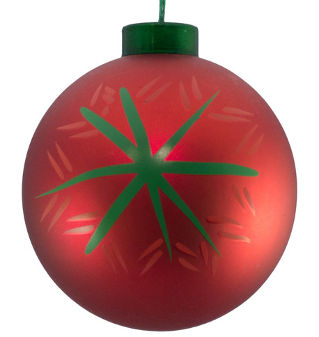 CONTEMPORARY ICON BAUBLES - RED SNOWFLAKE Red
