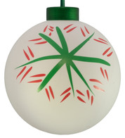 CONTEMPORARY ICON BAUBLES - WHITE SNOWFLAKE - White
