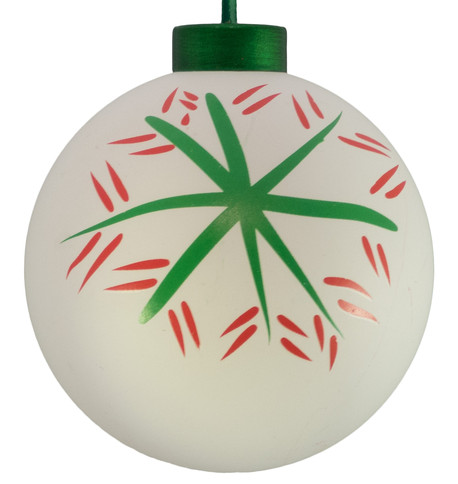 CONTEMPORARY ICON BAUBLES - WHITE SNOWFLAKE White