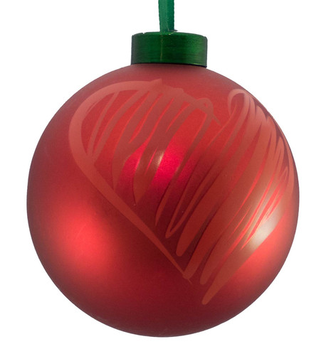 CONTEMPORARY ICON BAUBLES - RED HEART Red