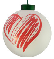 CONTEMPORARY ICON BAUBLES - WHITE HEART - White