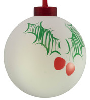 CONTEMPORARY ICON BAUBLES - WHITE HOLLY - White