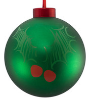 CONTEMPORARY ICON BAUBLES - GREEN HOLLY - Green