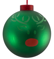 CONTEMPORARY ICON BAUBLES - GREEN REINDEER - Green