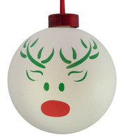 CONTEMPORARY ICON BAUBLES - WHITE REINDEER - White