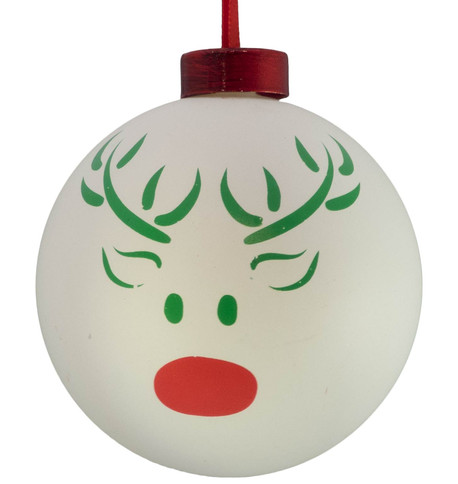 CONTEMPORARY ICON BAUBLES - WHITE REINDEER White