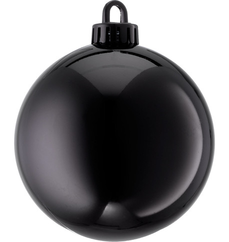 250mm SHINY BAUBLES - BLACK Black