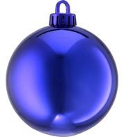 250mm SHINY BAUBLES - BLUE - Blue