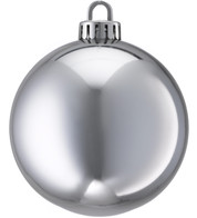 250mm SHINY BAUBLES - SILVER - Silver