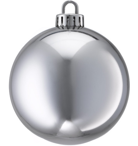 250mm SHINY BAUBLES - SILVER Silver