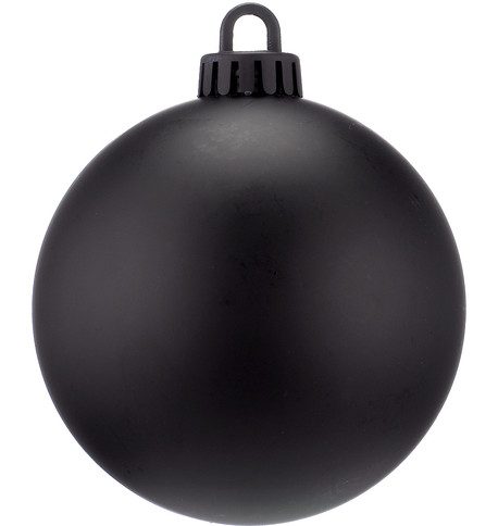 250mm MATT BAUBLES - BLACK Black