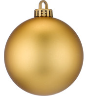 250mm MATT BAUBLES - GOLD - Gold