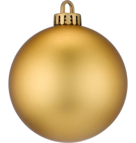 250mm MATT BAUBLES - GOLD Gold