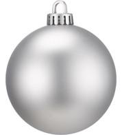 250mm MATT BAUBLES - SILVER - Silver
