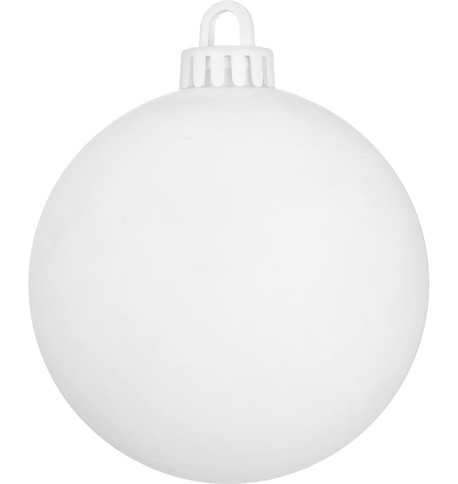 250mm MATT BAUBLES - OPTIC WHITE White