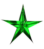 FOIL STARS - FOLD OUT - green - Green