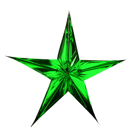 FOIL STARS - FOLD OUT - green Green