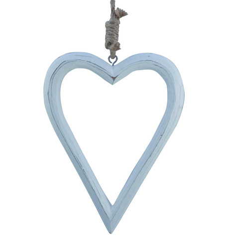 Wooden Love Hanger White