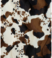 RODEO COW TEXTURED VELVET - Brown