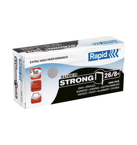 RAPID NO 26 STAPLES Silver