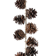 PINE CONE GARLAND - Brown