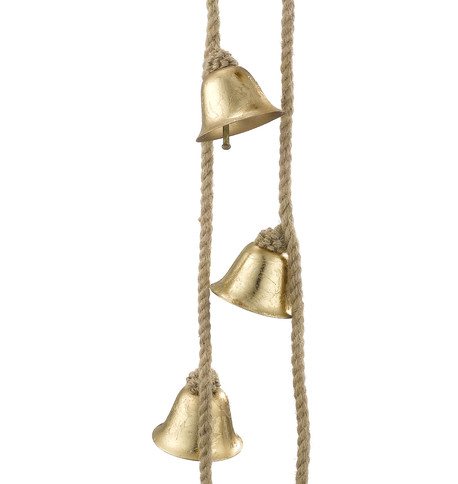 METAL BELL GARLAND - GOLD Gold