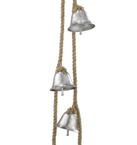 METAL BELL GARLAND - SILVER Silver