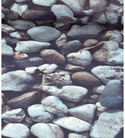 ROCKS PHOTOPRINT FABRIC - Grey