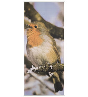 BIRD TEXTILE POSTER - Red