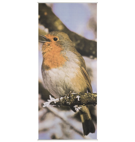 BIRD TEXTILE POSTER Red