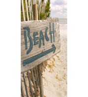 BEACH DISPLAY BANNER - Blue