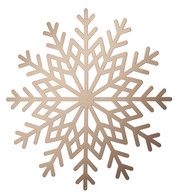 Metallic Card Snowflakes - Copper - Copper