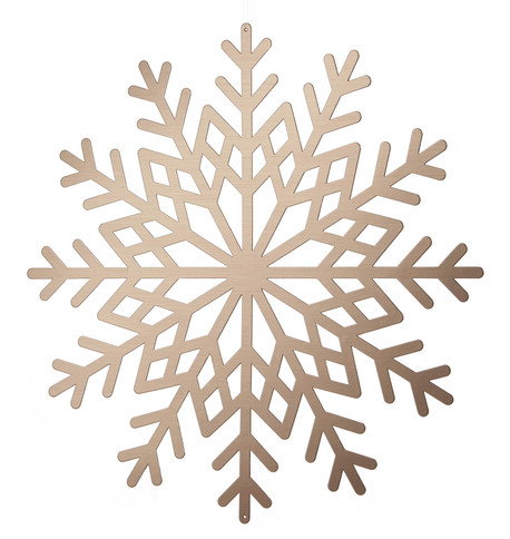 Metallic Card Snowflakes - Copper Copper