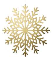 Gold Metallic Card Snowflakes - Gold