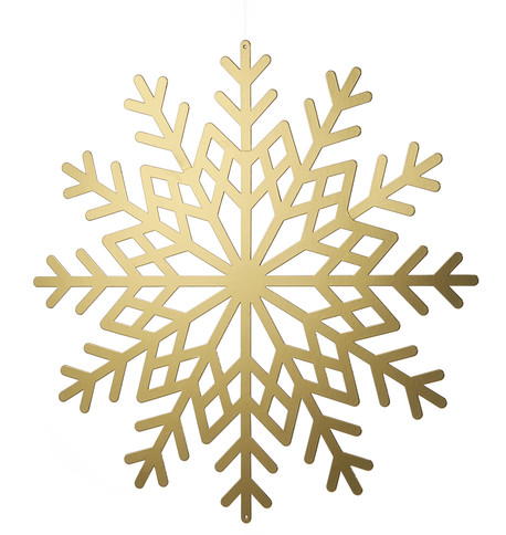 Gold Metallic Card Snowflakes Gold