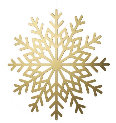 Gold Metallic Card Snowflakes Gold