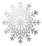 Silver Metallic Card Snowflakes - Silver