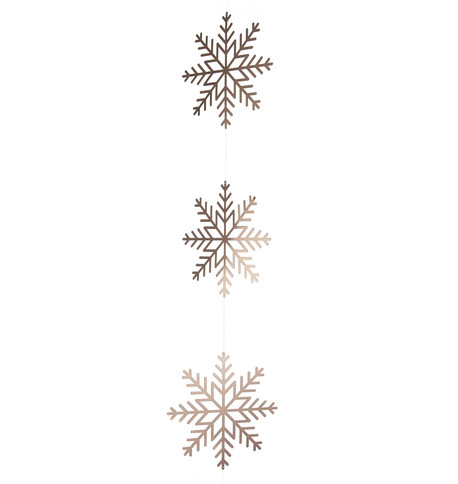 Copper Metallic Card Snowflake Garlands Copper