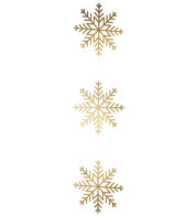 Gold Metallic Card Snowflake Garlands - Gold